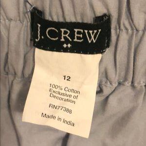 J crew skirt blue lace ruffle